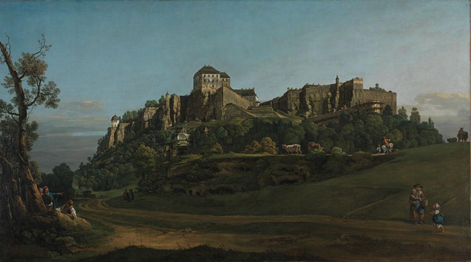 2-Бернардо Беллотто  - Крепость Кёнигштайн с севера - 1756.jpg