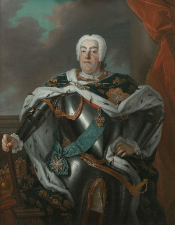 3-Луи де Сильвестр - Портрет короля Польского курфюрста Саксонского и великого князя Литовского Августа III - 1733.jpg
