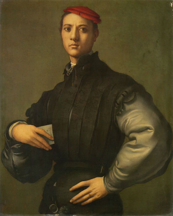 7-Якопо Понтормо - Портрет молодого человека в красной шапке - 1530.jpg
