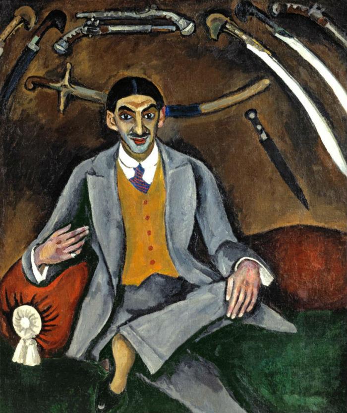 1-Петр Петрович Кончаловский - Портрет художника Г Б Якулова 1910.jpg
