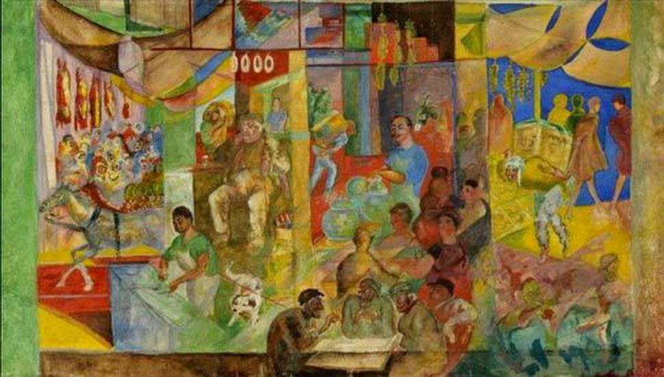 8-Георгий Якулов - Чайхана в Ереване -интерьер кафе - 1925-1928.jpg