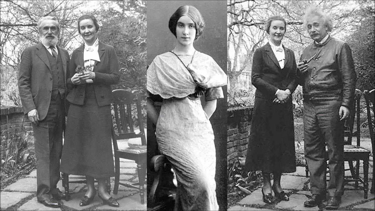 8-Мария Коненкова с мужем Сергеем Коненковым и с Альбертом Эйнштейном - 1935.jpg