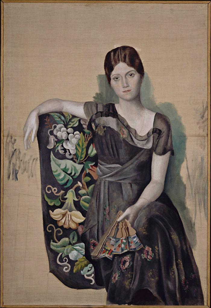 3-Пабло Пикассо - Ольга в кресле - 1918.jpg