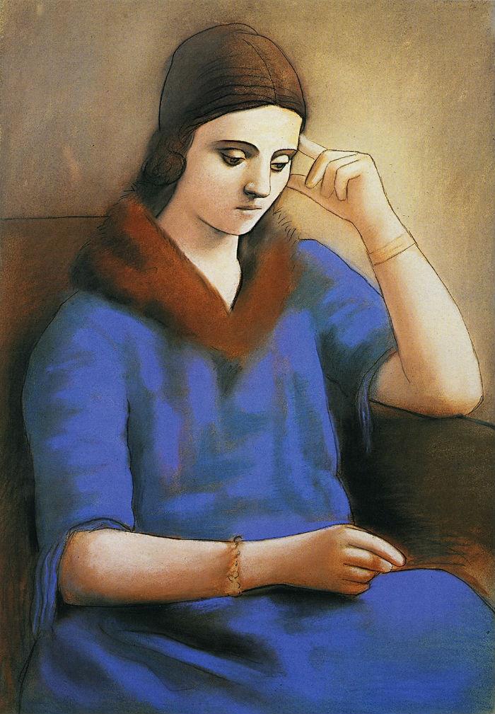 4-Пабло Пикассо - Ольга в задумчивости - 1923.jpg