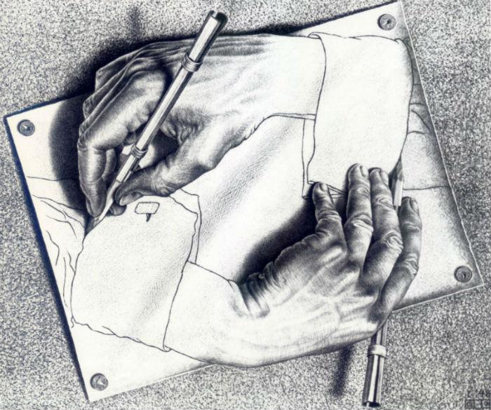 4-Мауриц Корнелис Эшер - Рисующие руки - 1948.jpg