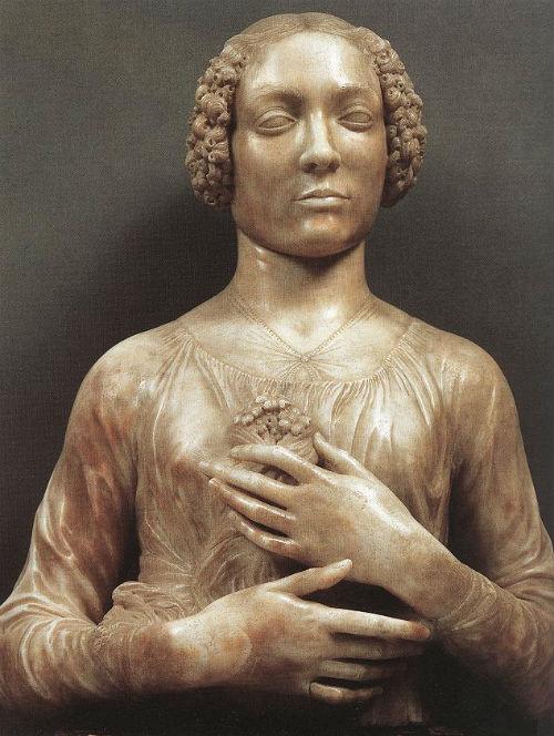 6-Андреа дель Верроккьо - Женщина с букетом цветов.jpg