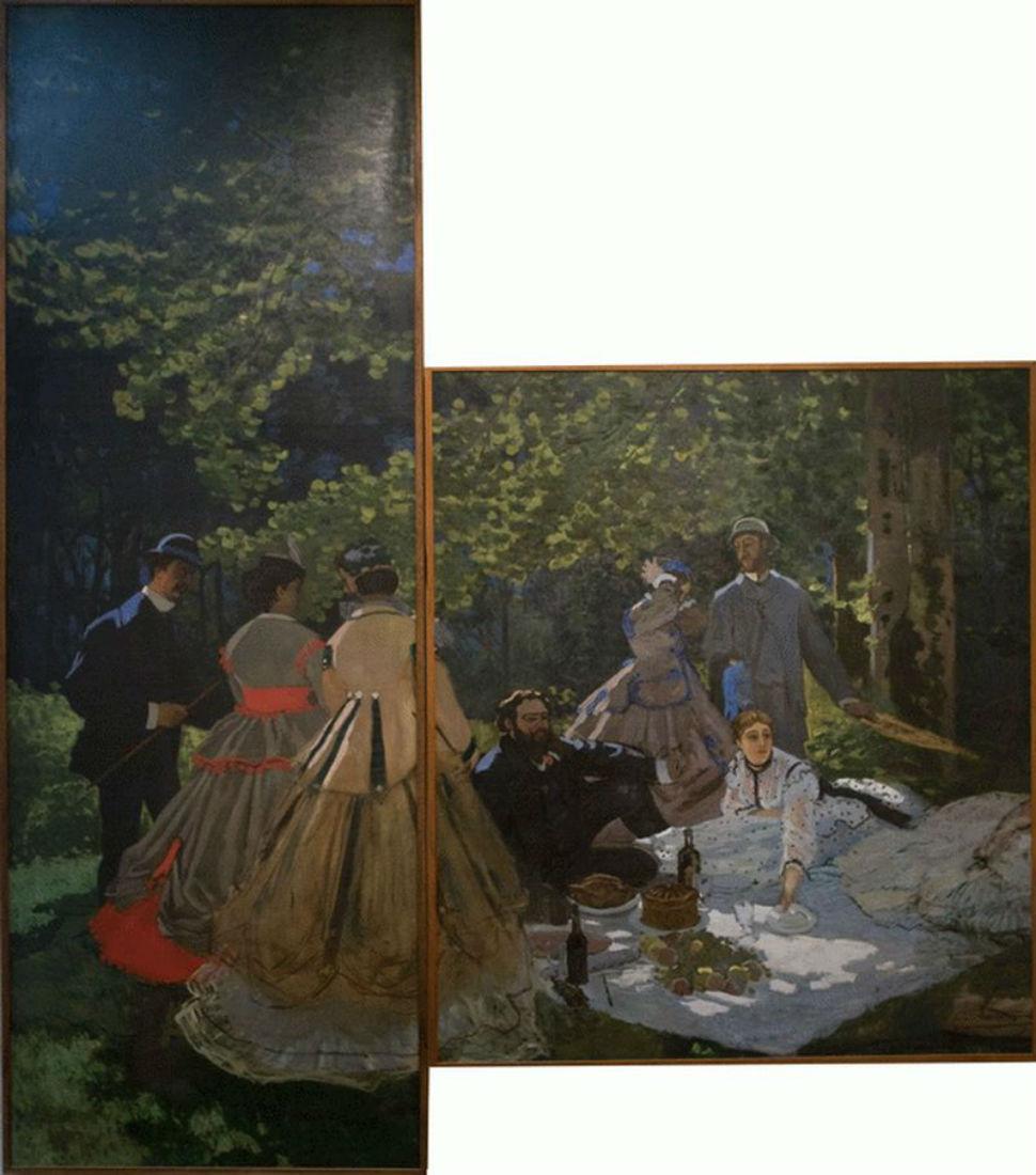 29-Клод Моне - Завтрак на траве (уцелевшие фрагменты) - 1866.jpg