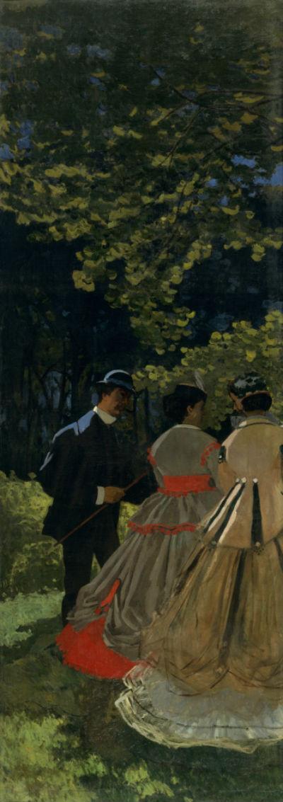 30-Клод Моне - Завтрак на траве фрагмент - 1866.jpg