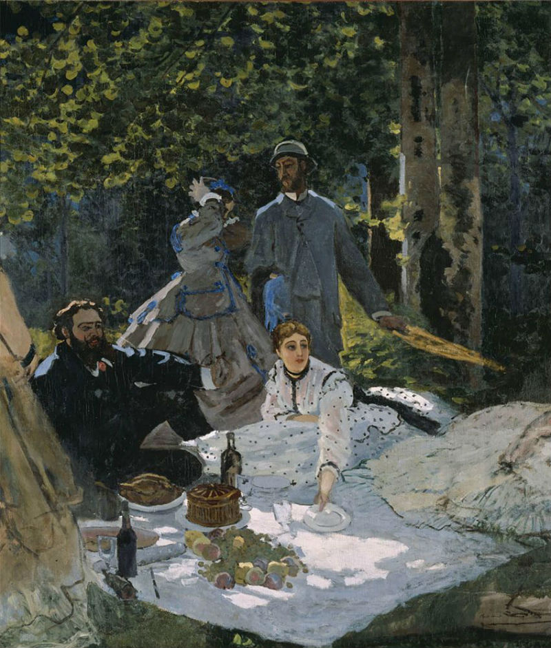 31-Клод Моне - Завтрак на траве фрагмент - 1866.jpg