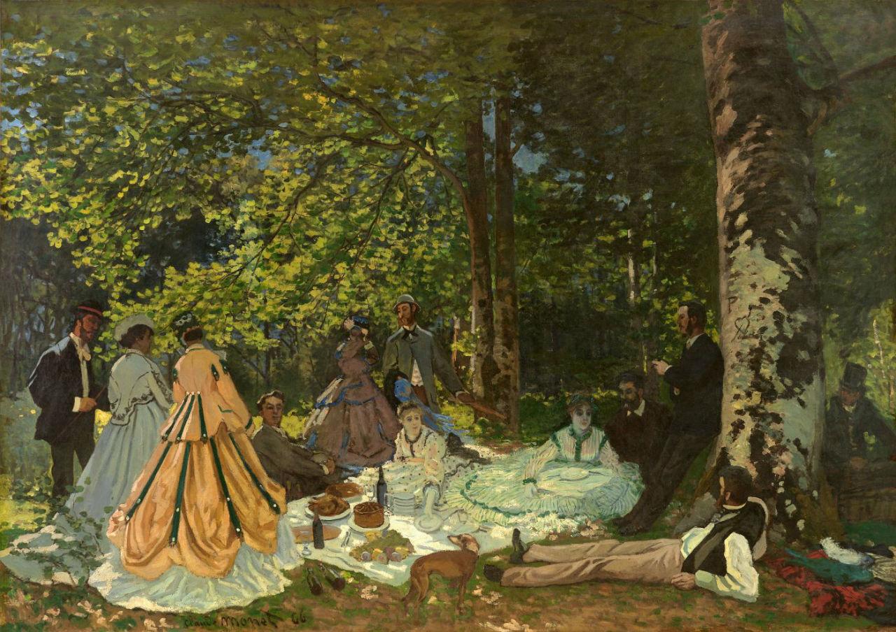 34-Клод Моне - Завтрак на траве - 1865.jpg