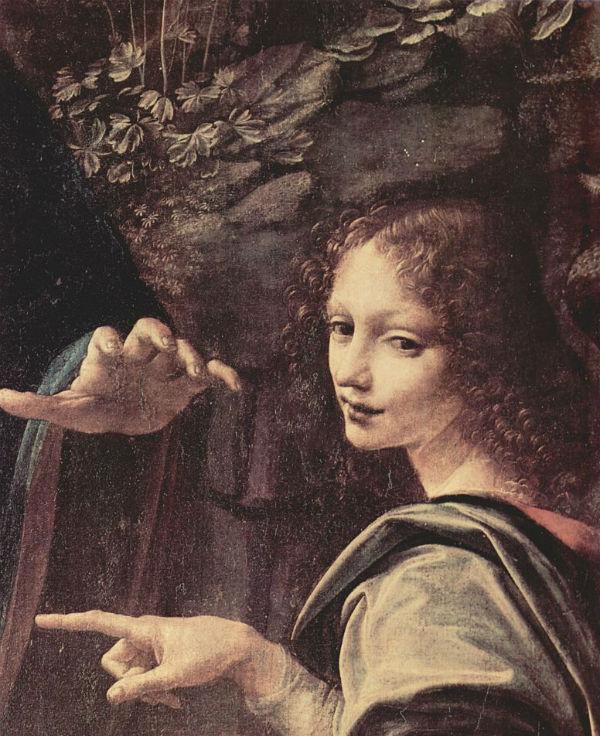 Леонардо да Винчи - Мадонна в скалах (фрагмент) - 1485.jpg