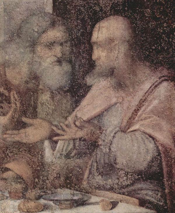 Леонардо да Винчи - Тайная вечеря (фрагмент) - 1495.jpg