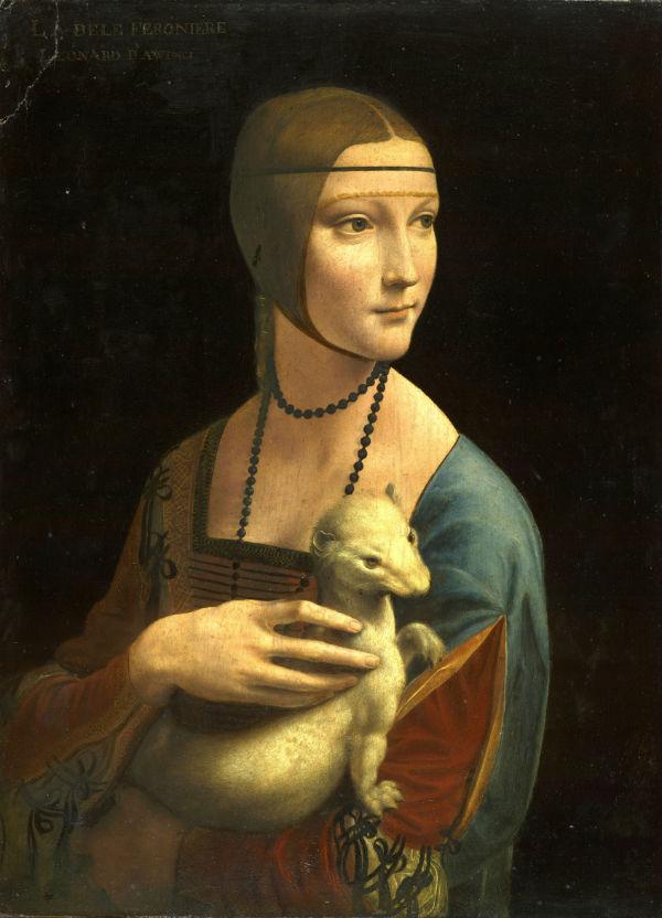 Леонардо да Винчи - Дама с горностаем Цецилия (Чечилия) Галлерани - 1480-е.jpg