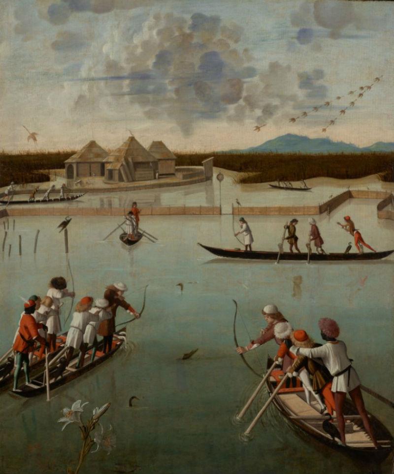 14-Витторе Карпаччо - Охота в лагуне - 1490-е.jpg