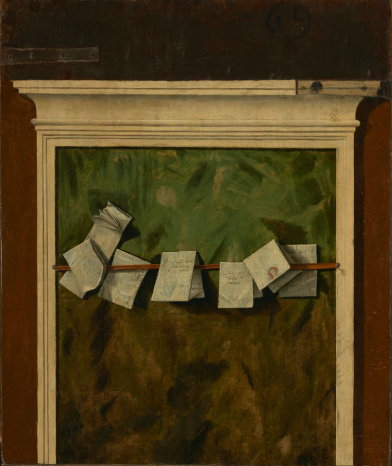 16-Витторе Карпаччо - Панель для записок Оборотная сторона картины Охота в лагуне - 1490.jpg