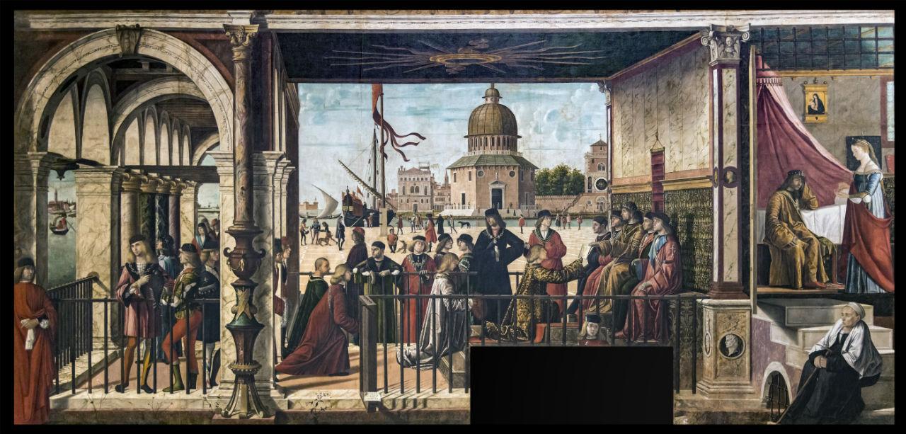 Витторе Карпаччо - Житие святой Урсулы Прибытие английских послов к королю Бретани - 1495.jpg