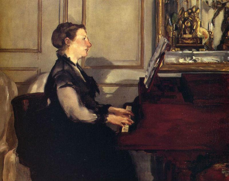 39-Эдуар Мане  - Мадам Мане за фортепиано - 1868.jpg