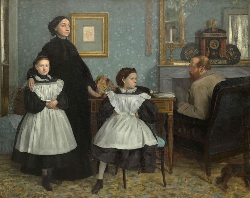 40-Эдгар Дега - Портрет семьи Беллелли -  1867.jpg
