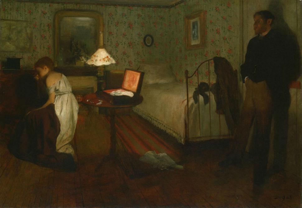 41-Эдгар Дега - Интерьер (Насилие Изнасилование) - 1869.jpg