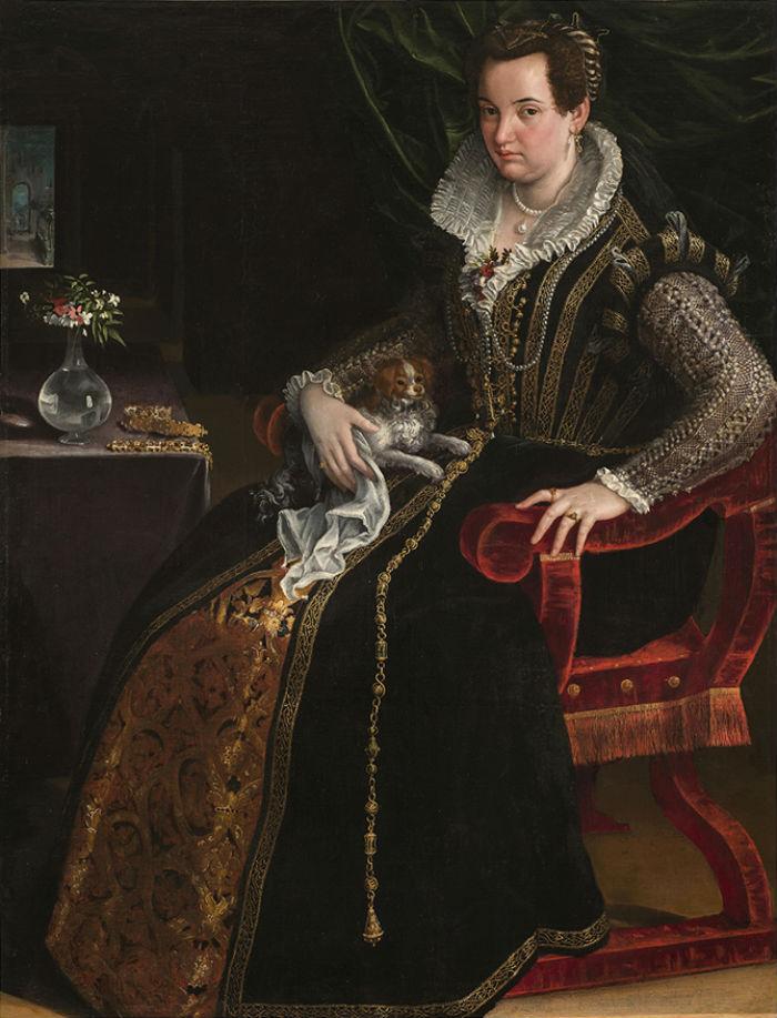 8-Лавиния Фонтана - Портрет Констанцы Алидоси - 1594.jpg