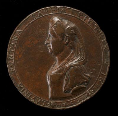 9-Медальон с профилем Лавинии Фонтаны отлитый в 1611 году скульптором Феличе Антонио Касони.jpg