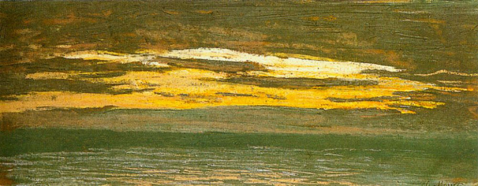 6-Клод Моне - Закат над морем - 1864.jpg