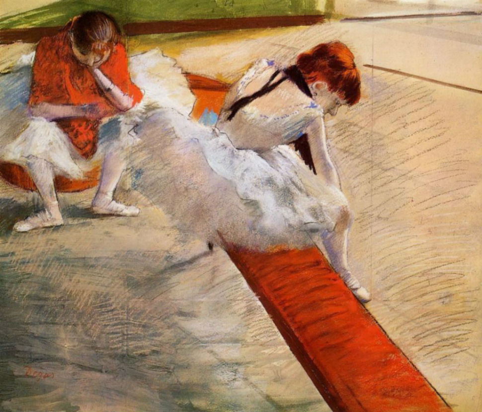8-Эдгар Дега - Отдых балерин - 1885.jpg