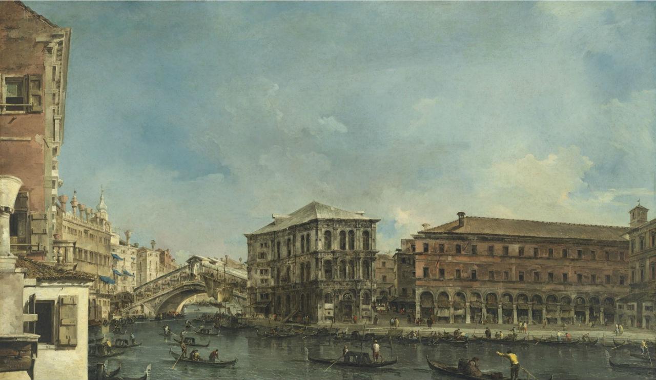 2-Франческо Гварди - Венеция Мост Риальто с палаццо деи Камерлинги - 1760-е.jpg