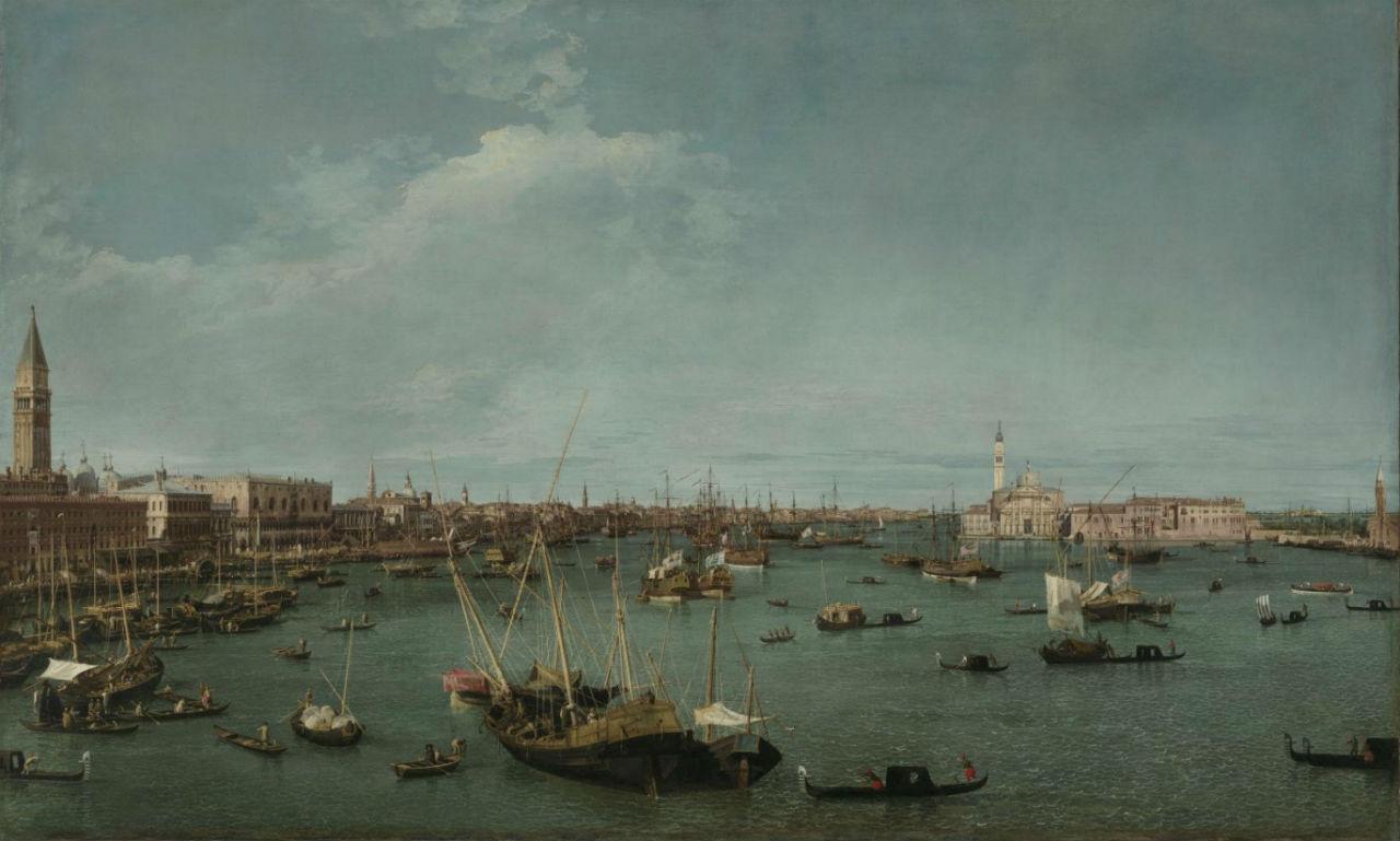 4-Джованни Антонио Каналь (Каналетто) - Гавань Сан Марко - 1745.jpg