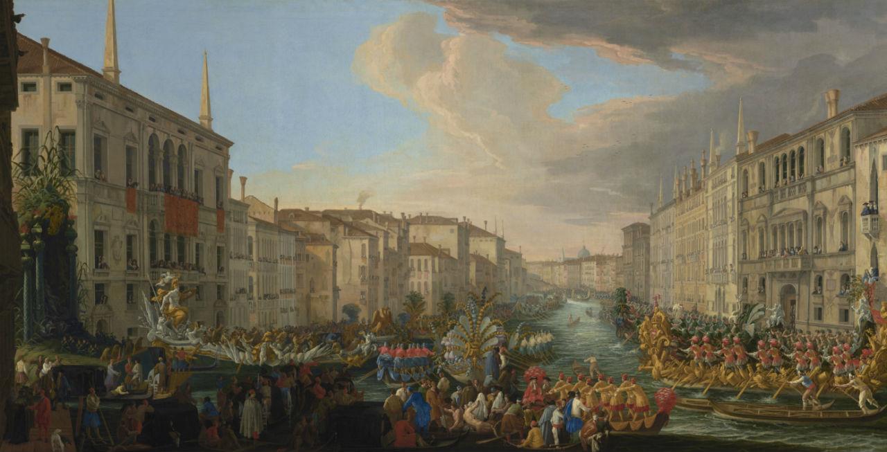 5-Лука Карлеварис - Регата на Гранд-канале в честь Фредерика IV короля Дании - 1711.jpg