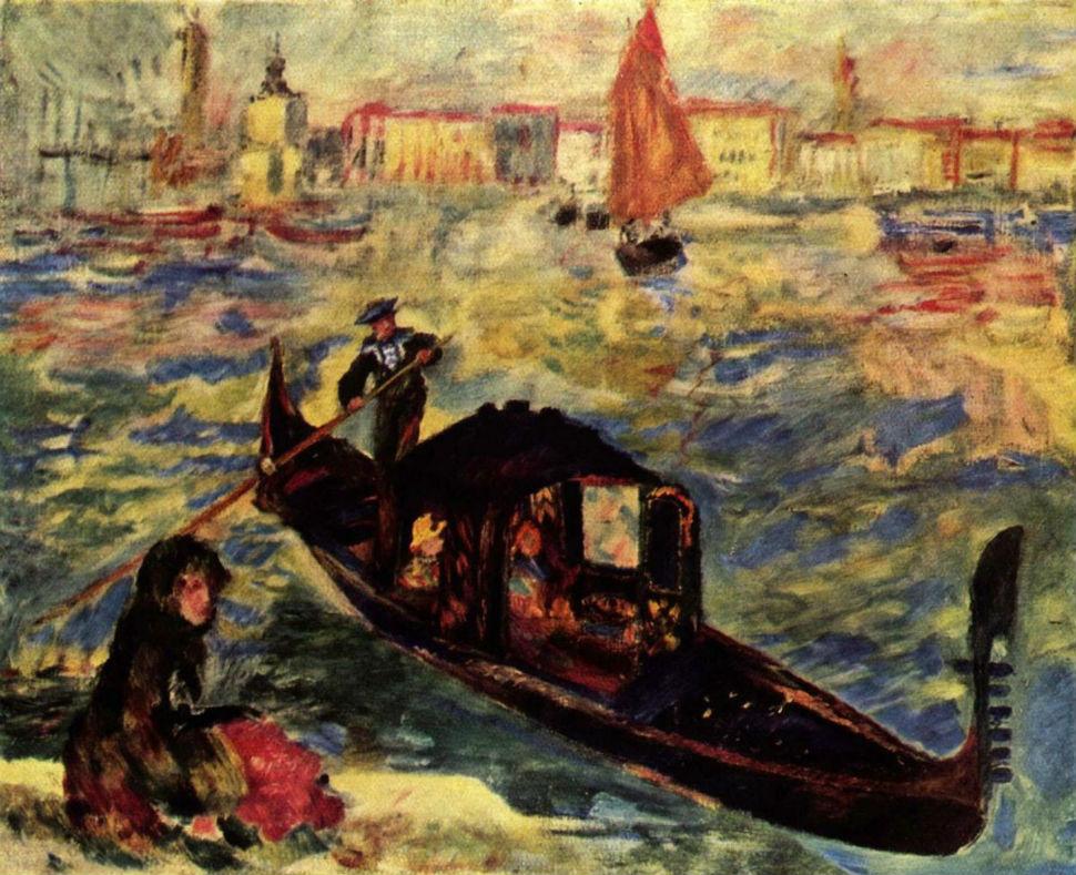 8-Пьер Огюст Ренуар - Гондола на Большом канале  в Венеции - 1881.jpg