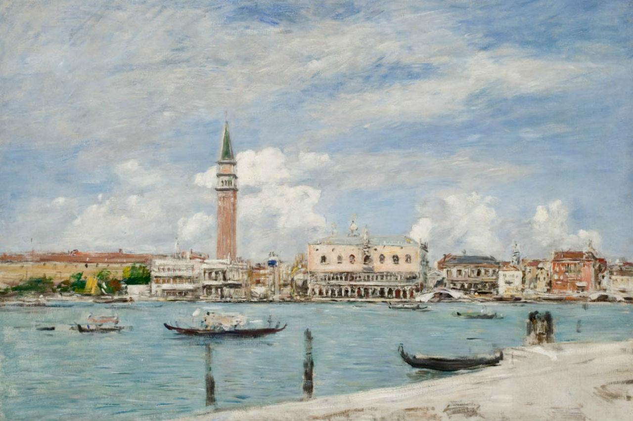 11-Эжен Буден - Площадь Сан-Марко в Венеции Вид на Гранд-канал - 1895.jpg