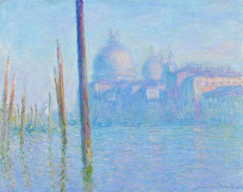 12-Клод Моне - Большой канал в Венеции и собор Санта-Мария-делла-Салюте - 1908.jpg