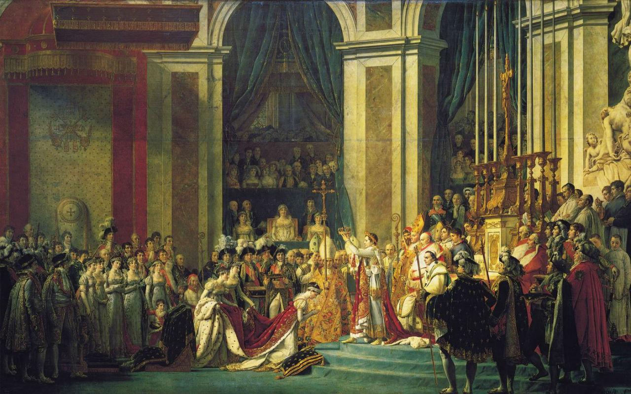 2-Жак-Луи Давид - Коронация Наполеона в соборе Нотр-Дам 2 ноября 1804 года - 1807.jpg