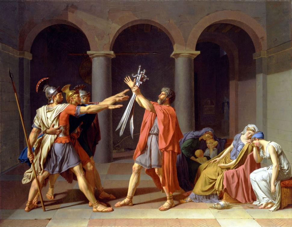 4-Жак-Луи Давид - Клятва Горациев - 1784.jpg