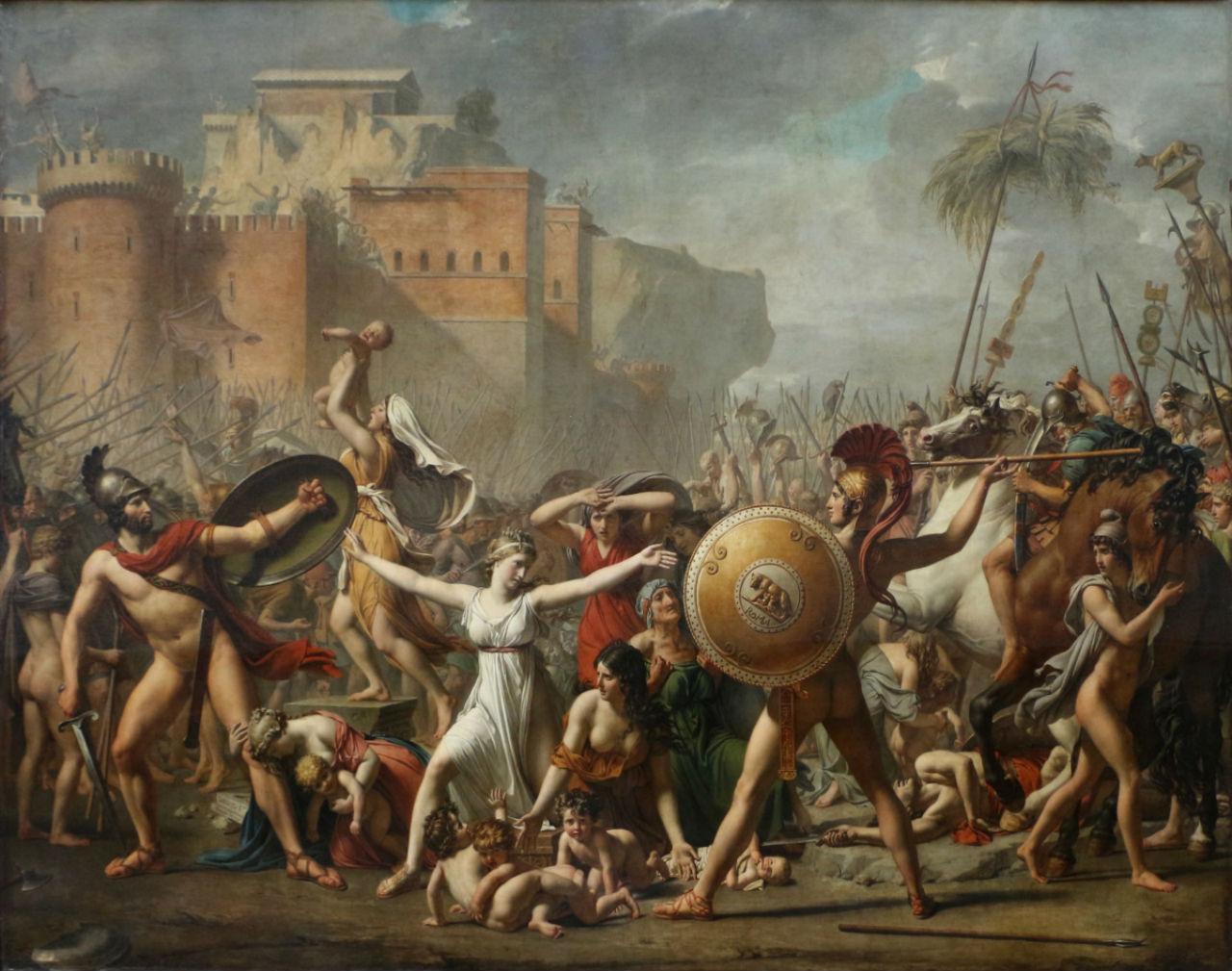 5-Жак-Луи Давид - Сабинянки останавливающие битву между римлянами и сабинянами - 1799.jpg