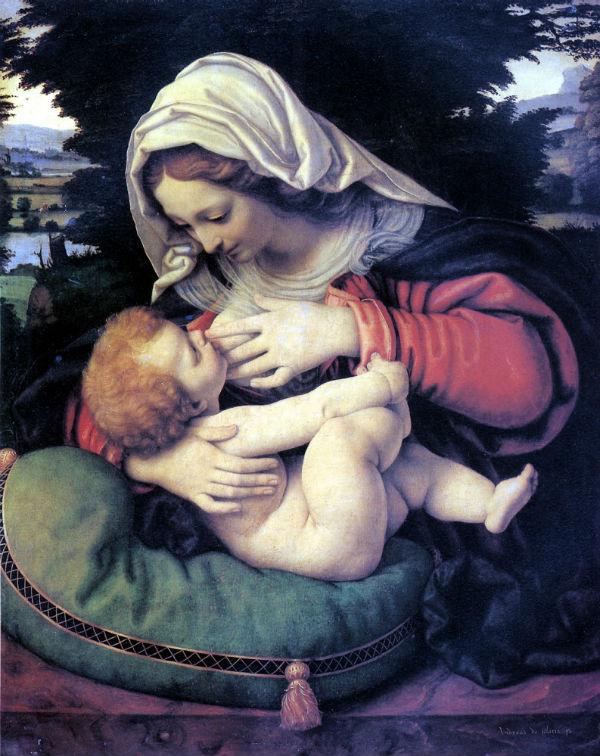 9-Андреа Соларио - Мадонна с зелёной подушкой - 1507.jpg