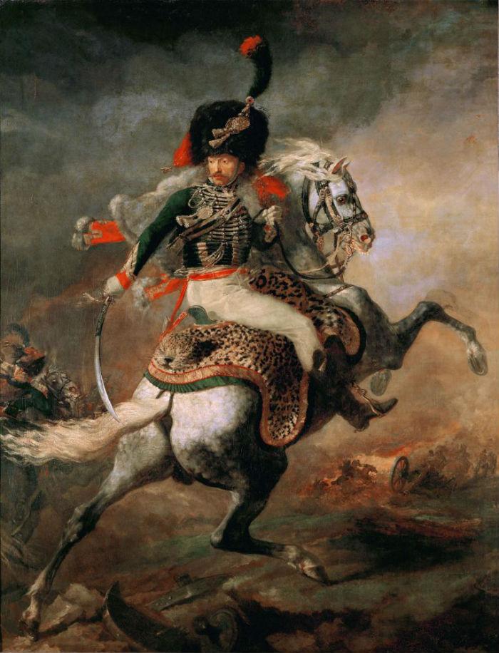 14-Теодор Жерико - Офицер конных егерей императорской гвардии идущий в атаку - 1812.jpg