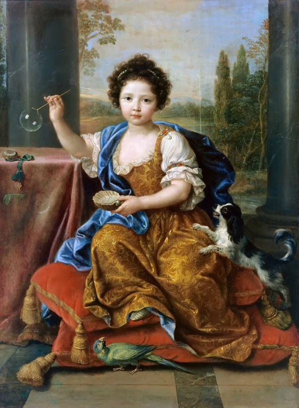 3-Пьер Миньяр - Портрет Марии Анны де Бурбон (Мыльные пузыри) - 1674.jpg
