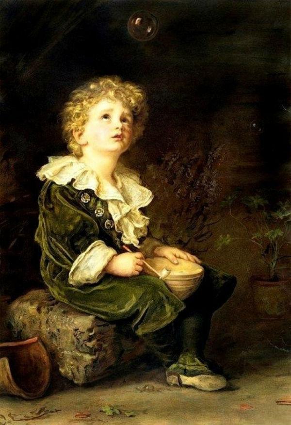 5-Джон Эверетт Милле - Мир ребенка - (Мыльные пузыри) - 1886.jpg