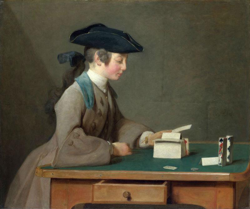 18-Жан Батист Симеон Шарден - Карточный домик - 1737.jpg