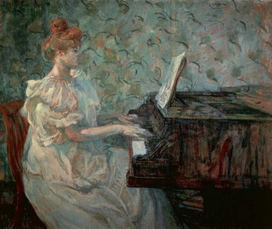 1-Анри де Тулуз-Лотрек - Мадам Мизиа Натансон за пианино - 1898.jpg