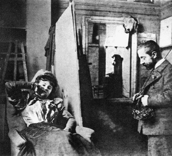 6-Мизиа в студии Анри де Тулуз-Лотрека - 1895 - Фото Жан Эдуар Вюйар.jpg
