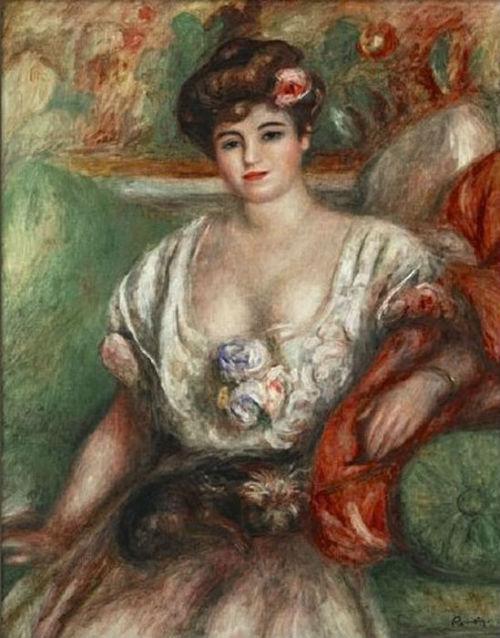 14-Пьер Огюст Ренуар - Портрет  Мизии Серт (Девушка с грифоном) - 1907.jpg