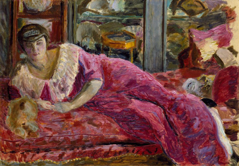 16-Мизиа на диване - Пьер Боннар - 1914.jpg