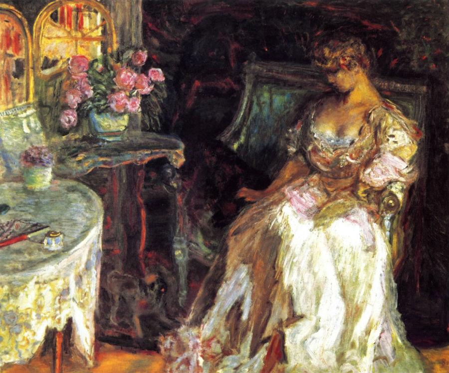17-Пьер Боннар - Мизиа с розами - 1908.jpg