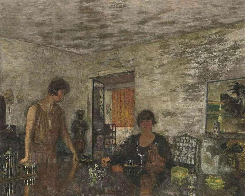 18-Жан Эдуар Вюйар - Черные чашки. Мизиа Серт и ее племянница Мими Годебска - 1925.jpg