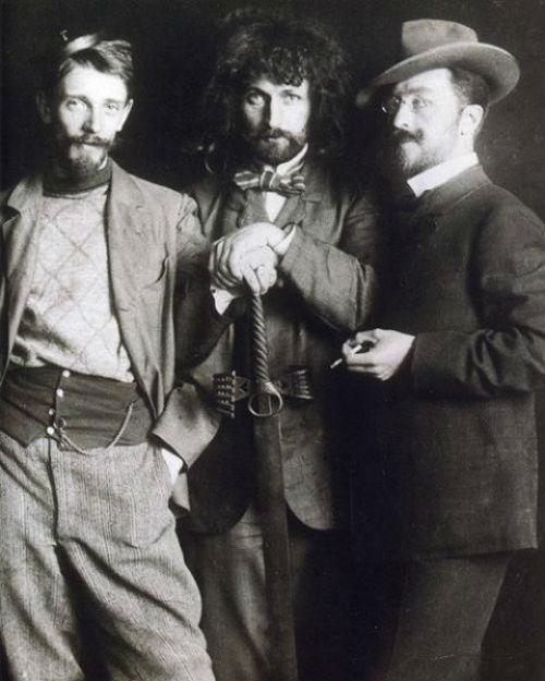 3-Николай Зедделер Дмитрий Кардовский и Василий Кандинский в школе Антона Ашбе - Мюнхен - 1897.jpg