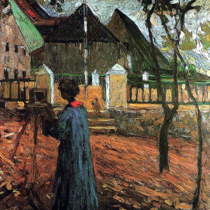 11-Василий Кандинский - Габриэль Мюнтер за рисованием - 1903.jpg