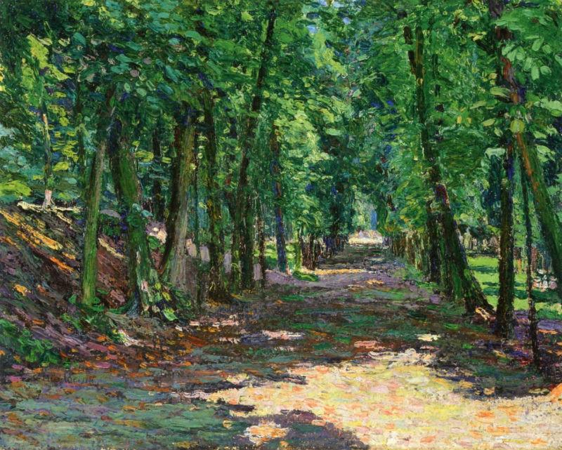 13-Габриэль Мюнтер - Аллея в парке Сент-Кдауд - 1906.jpg